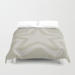 Pastel star on a neutral color background Duvet Cover