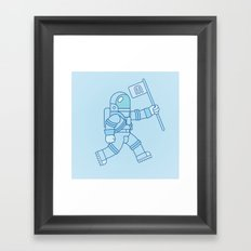 McAstronaut (Blue) Framed Art Print