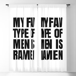 My Fav Type of Men is Ramen Blackout Curtain