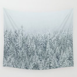 White Forest Wall Tapestry