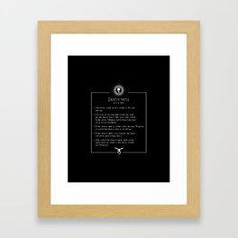 How To Use It Framed Art Print