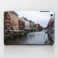 copenhagen iPad Cases featuring Nyhavn, Copenhagen  by Created by Eleni