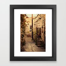 Omodos Cyprus Alley Framed Art Print
