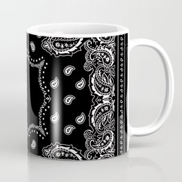 Bandana Black & White Coffee Mug