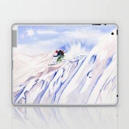 Powder Skiing Laptop & iPad Skin