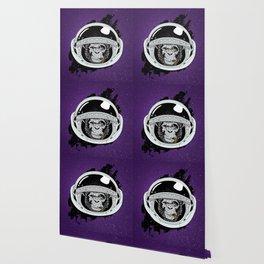 Monkey in space Wallpaper