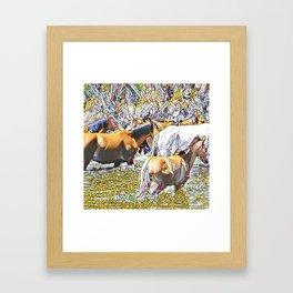Wild Horses Framed Art Print