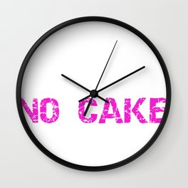 Fitness No Pain No Cake Burning Calories Wall Clock