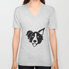 Border Collie Unisex V-Neck