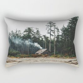 Just A Little cabin in the woods Rectangular Pillow
