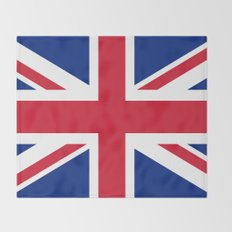 Union Jack, Authentic color and scale 1:2 Throw Blanket