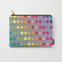 Rainbow Circles (Gray) Carry-All Pouch