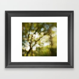 Abstract bokeh tree Framed Art Print