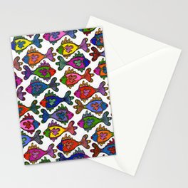 Many Frilly Fish Stationery Cards
