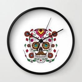 El Jefe Dia De Los Muertos Skull Day Of The Dead Wall Clock