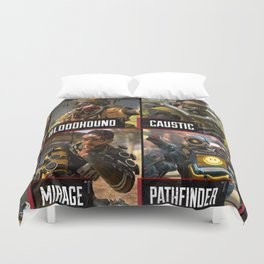apex legend all champions with names Duvet Cover