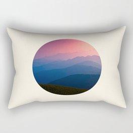 Blue Purple & Pink Mountains Sunset Silhouette Rectangular Pillow