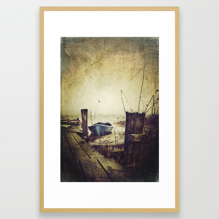 Rugged fisherman Framed Art Print