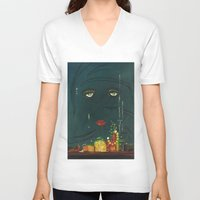 great gatsby V-neck T-shirts featuring Gatsby by Julia Lopez