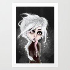 too dark to be sure Art Print