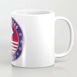Arkansas, Arkansas t-shirt, Arkansas sticker, circle, Arkansas flag, white bg Coffee Mug