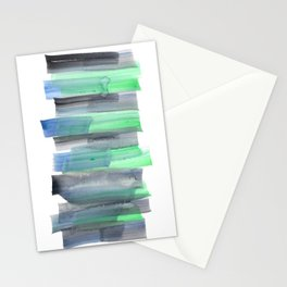 Frozen Summer Series 155 | Watercolor Simple Pattern Blue Shades Vertical Stationery Cards