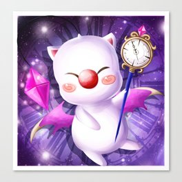 Time Traveling Moogle Canvas Print
