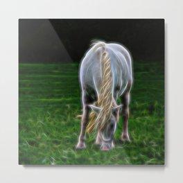 Horse Fractal Horse Metal Print