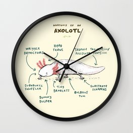Anatomy of an Axolotl Wall Clock