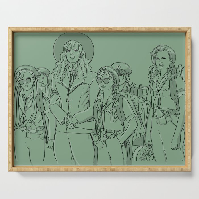 Troop 332 Beverly Hills Serving Tray By Artbyloyal Society6