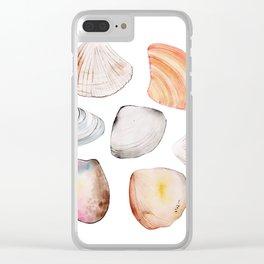 seven seashells Clear iPhone Case