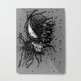 Venomistic Scribble Metal Print