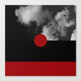 Night Skies Red Canvas Print