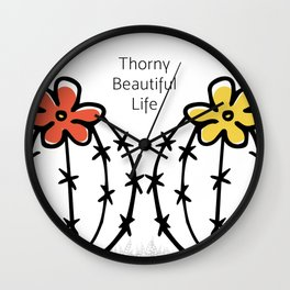Thorny Beautiful Life Wall Clock