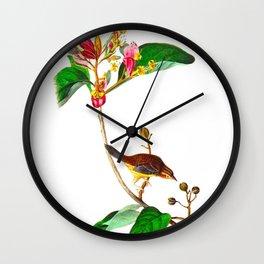 Bachman's Finch Wall Clock