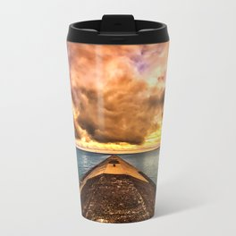 Sunset Clouds Over Lake Superior Metal Travel Mug