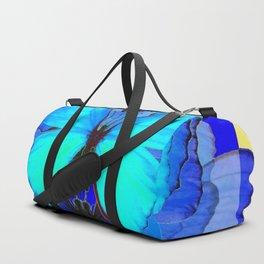 DECORATIVE BLUE SATIN BUTTERFLIES YELLOW PATTERN ART Duffle Bag