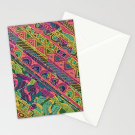 Tribal Stripe Stationery Cards