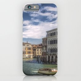 Venice Italy Canal Marinas speedboat Houses Cities Pier Berth Motorboat powerboat Building iPhone Case