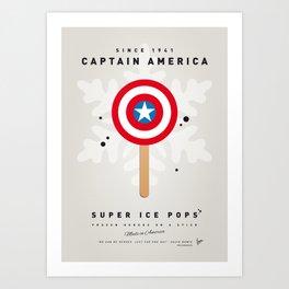 My SUPER ICE POP- No08 - America Captain Art Print