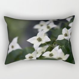 Dogwood Blossoms Rectangular Pillow