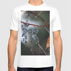 Grapes in a Morning Rain MEDIUM Mens Fitted Tee White