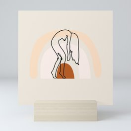 sun salutations line art Mini Art Print