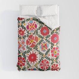Bukhara Suzani  Antique Embroidery Print Comforters