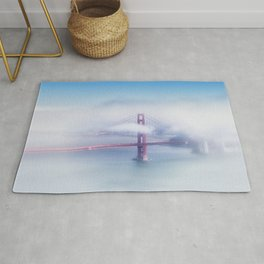 Foggy Golden Gate Bridge Rug