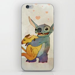 Stitch with Wallaby iPhone Skin