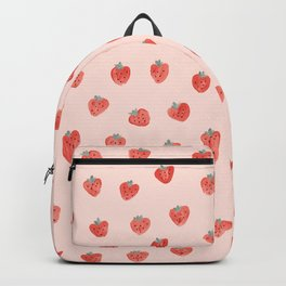 Strawberries on Pink Backpack