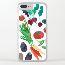Love Your Veg Clear iPhone Case
