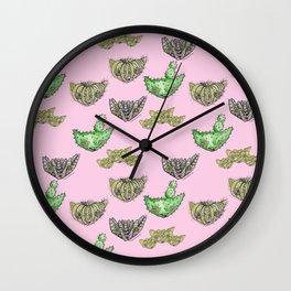 """""""Oro?"""" Cactus Pink Wall Clock"""