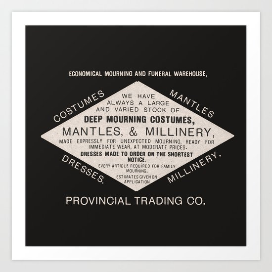 Economical Mourning and Funeral Warehouse  Art Print